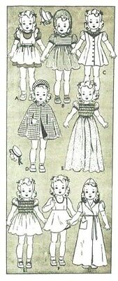 """Vtg 16"""" Shirley Temple Doll Clothes Pattern 454"""