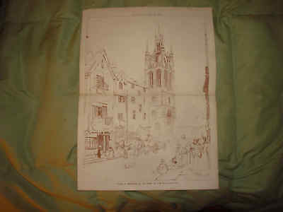 Antique Newcastle On Tyne Northumberland England Print