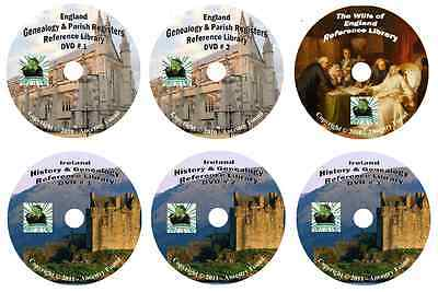 716 Books ENGLAND & IRELAND history & genealogy 6 -DVDs