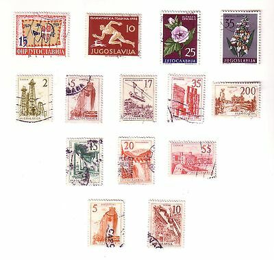 Jugoslavia M Mnh Used Stamp Collection 1954-62 S-1907
