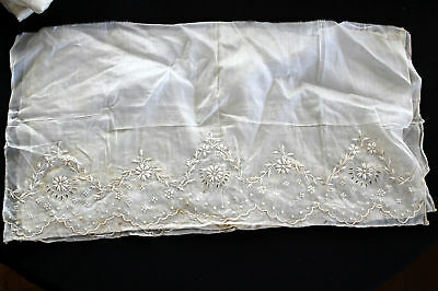 5 Pcs Antique Mid 1800's Fine Cotton Hand Embroiderey