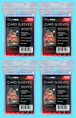 400 ULTRA PRO Soft CARD SLEEVES NEW Penny Sleeve Trading Baseball Archival Safe