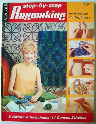 Vintage rugmaking 8 styles 22 designs braided punch