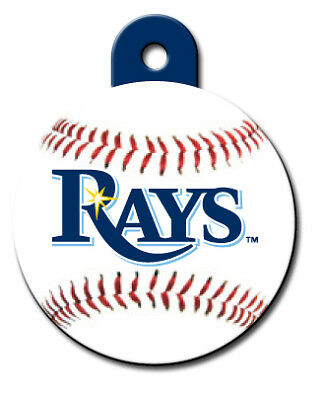 MLB Engaved Tampa Bay Rays Pet ID Tag fast ssh