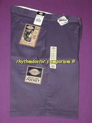 "Dickies Mens 42283 MP 13"" Loose Fit Cell Multi Use Pocket Work Short Mid Purple"