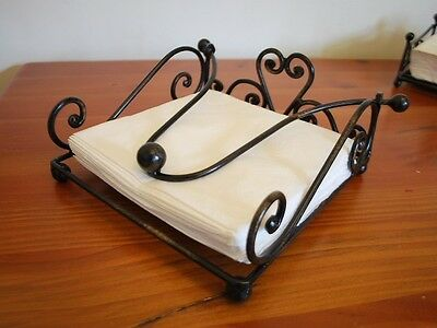 Handmade French Style Iron Paper Napkin Holder 19cm Brass Color