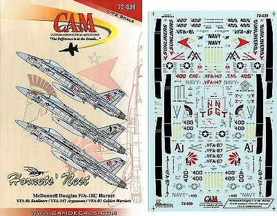 Cam Custom Aeronautical Miniatures 72-039 - Decals 1/72 Hornets' Nest F/a18 C