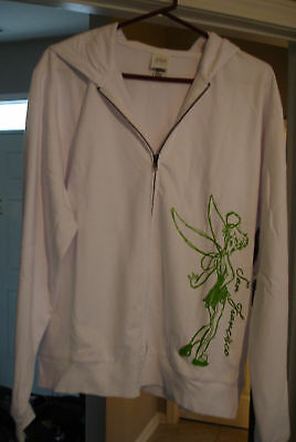 DISNEY TINKERBELL Zippered Hoodie SAN FRANCISCO Womens MEDIUM New With Tags