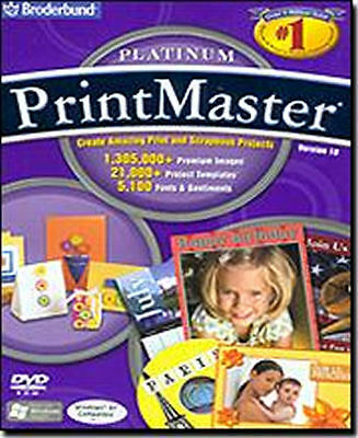 PRINTMASTER 18 PLATINUM Print Master Design Publishing Software NEW Windows CD