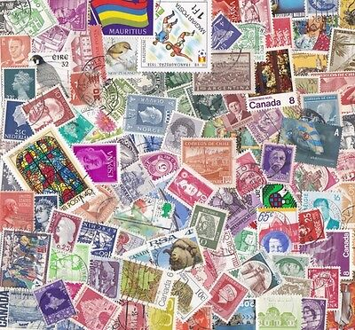 1000 WORLD mix worldwide Stamps OFF PAPER nice!