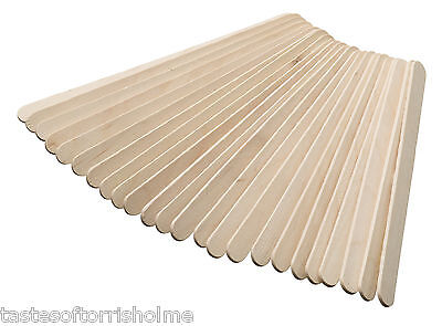 Brand New & Sealed Pack of 24 Spare Wooden Lollypop Ice Lolly Wood Sticks