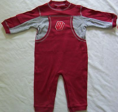 Oklahoma Sooners Baby Infant Romper Creeper Coverall Bodysuit Outfit NWT 12M