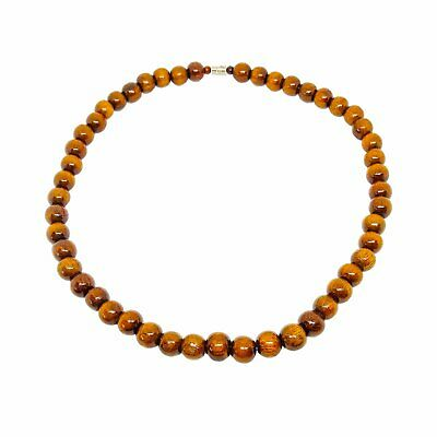 Hawaiian Jewelry Small Koa Wood Bead Necklace Choker