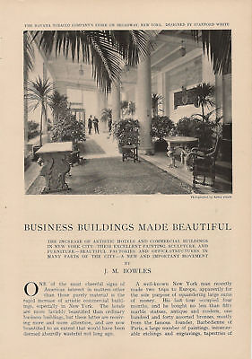 1905 Beautifying Commercial Buildings vintage article