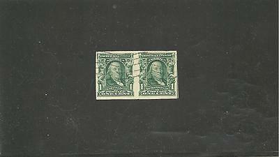 Usa Sc#314 Franklin Imperforated Pair Used Gem Stamps S-1786