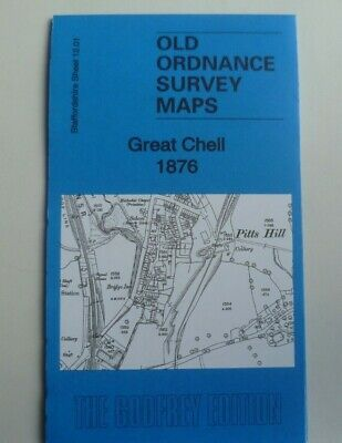 Old Ordnance Survey Map Great Chell near Tunstall Staffordshire 1876 Sheet 12.01