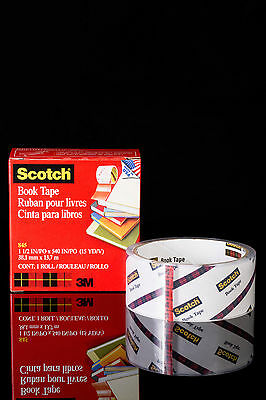 3M SCOTCH BOOK TAPE 38mm x 13.7m roll clear repair tape
