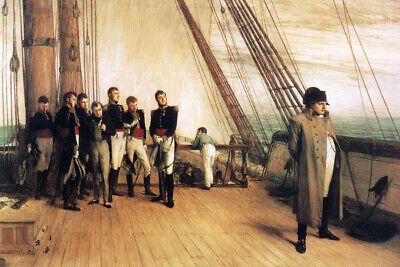 Napoleon Bonaparte On Board The Bellerophon Ship Painting By Orchardson Repro