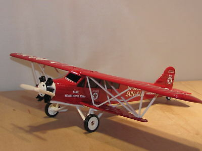 WINGS OF TEXACO #9 REG - 1929 BUHL CA-6 SPOKANE SUN GOD DIECAST BANK by ERTL