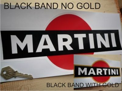 "MARTINI Black & Red (optional Gold) Logo Race Car STICKER 12"" Racing Classic"