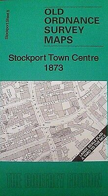Old Ordnance Survey Maps Stockport Town Centre  Cheshire 1873 Godfrey Edition