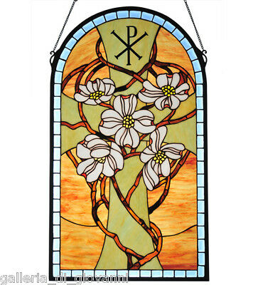 Cross  Biblical  Stained Glass Window  Bible Spiritual