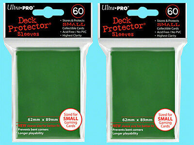 120 Ultra Pro DECK PROTECTOR GREEN Card Sleeves Small Gaming Vanguard Yugioh YGO
