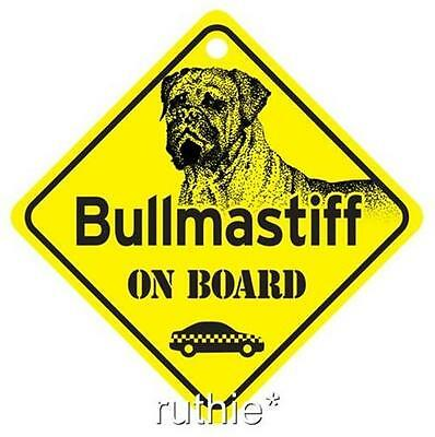 Bullmastiff On Board Dog Window Sign Made in USA