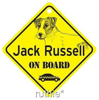 Jack Russell On Board Dog Window Sign Made in USA