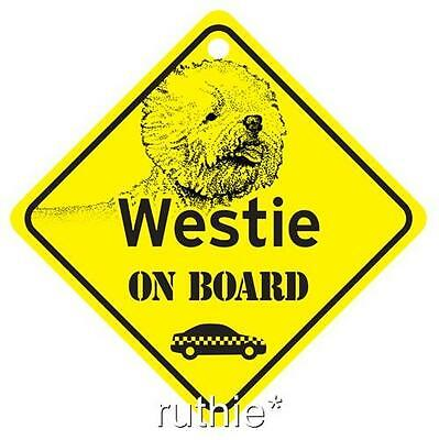 Protected by Westie Window Sign Made in USA