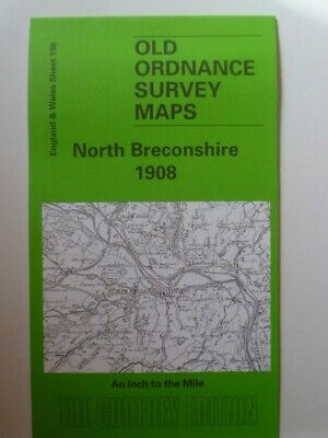 Old Ordnance Survey Maps North Breconshire Llanwrtyd Wells Area 1908 S196 New
