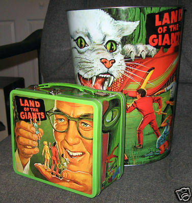 Land of the Giants Irwin Allen Lunchbox and Wastebasket New Repro