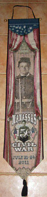 MANASSAS 150TH CIVIL WAR Tapestry Wall Hanging Bellpull