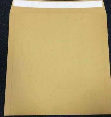 "1000 7"" 625micron PEEL+SEAL BROWN RECORD MAILERS *24H*"