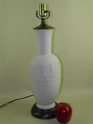 Antique Neoclassical French Limoges Bisque Figural Lamp