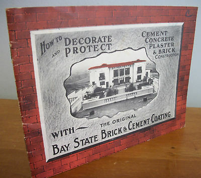 Early 1900s BAY STATE BRICK & CEMENT COATING Booklet