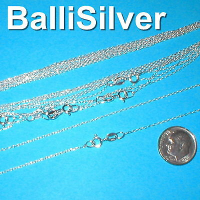 "10 pcs 16.5"" Sterling Silver 925 Diamond Cut Fine CABLE ANCHOR Chain Necklaces"