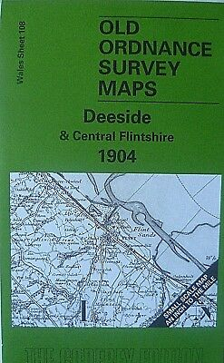 Old Ordnance Survey Map Deeside & Central Flintshire Plus Plan Gt Saughall 1904