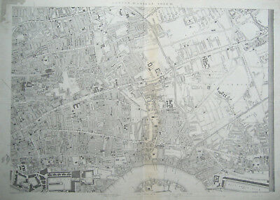 LONDON Street Plan Map E Antique DISPATCH ATLAS 1862