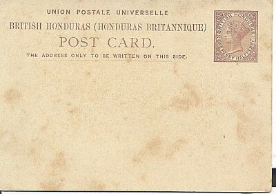 BRITISH HONDURAS LATE 1800's POSTAL CARD UN-USED