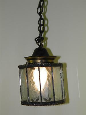 Antique Copper  Glass Panels Arts&crafts Latern Fixture