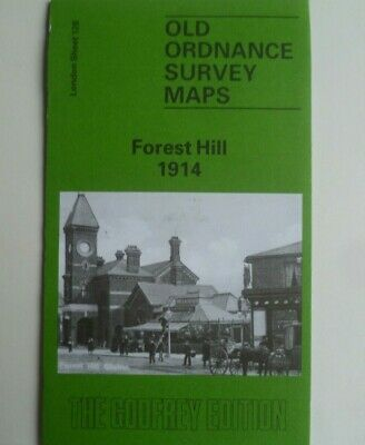 Old Ordnance Survey Detailed Maps Forest Hill near Dulwich London 1914 S128 New