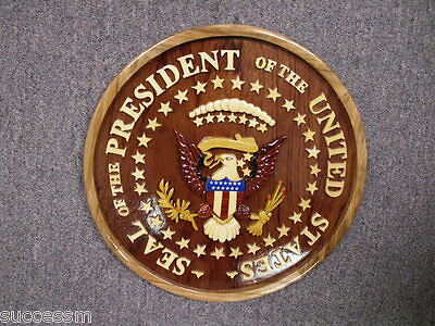 "Seal of the President White House 12"" Wooden Plaque - Brand New"