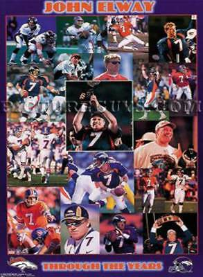 John Elway Career Tribute Picture Plaque