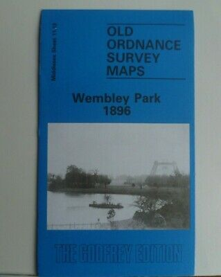 OLD ORDNANCE SURVEY MAPS WEMBLEY PARK Middlesex 1896 Godfrey Edition New