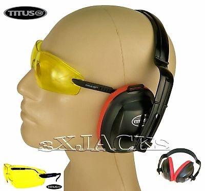 Titus Ear Muffs Hearing Eye Protection Combo Set Crbs2