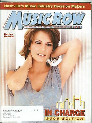 Martina McBride cover Music Row magazine 2006 In Charge