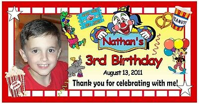 12 CIRCUS CLOWN CARNIVAL BIRTHDAY PARTY FAVORS PHOTO MAGNETS