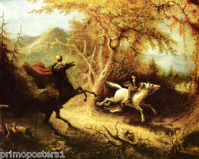 The Headless Horseman Pursuing Ichabod Crane Usa Painting By John Quidor Repro