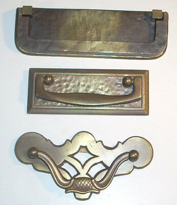 Lot of 3 Vintage Brass Drawer Pulls